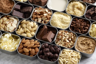 variety of almonds and nuts